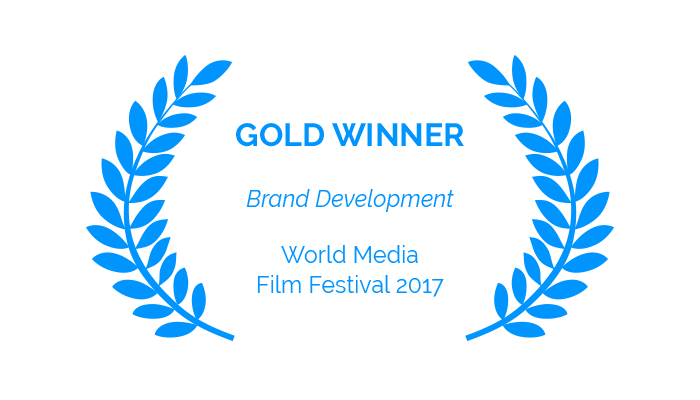 Award – Gold Winner, Brand Development, World Media Film Festival 2017